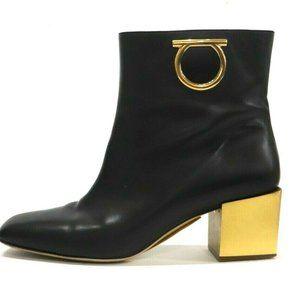 Salvatore Ferragamo Black Albiano Heeled Boots